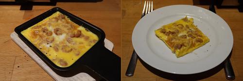 Raclette 2: Rührei mit Nordseekrabben