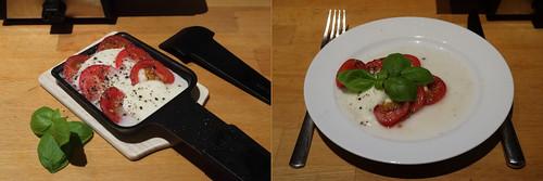 Raclette 1: Mozarella Tomaten