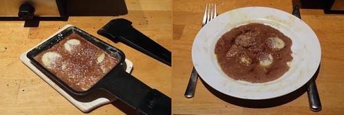 Raclette 21: Bananen in Nutella-Kokosmilch