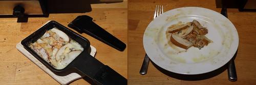 Raclette 20: Birne mit Gorgonzola
