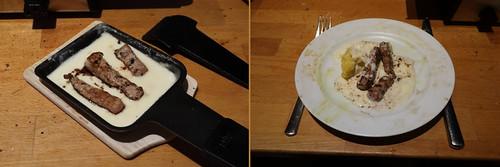 Raclette 15: Schweinefleisch in Senfsoße