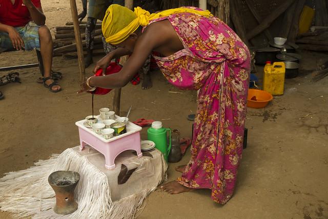 Ceremonia de preparación del café. Etiopía.