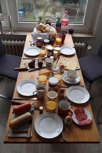 Frühstück am Neujahrsmorgen