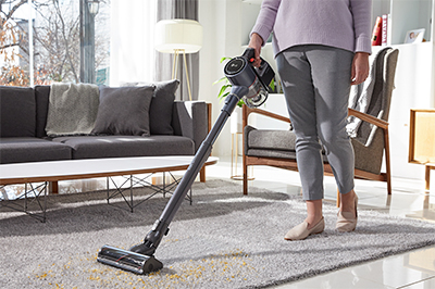 LG CordZeroThinQ A9 with Power Drive Mop (in the photo) & LG CordZero ThinQ Robotic Mop will be showcased at CES 2020.