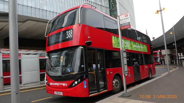 P1000329 Demonstrator LF69 UXJ was YX69 NXL at London Bridge Station Bus Station London Bridge Approach London Bridge London