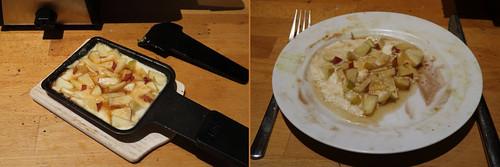 Raclette 22: Äpfel in Honig-Calvados-Schmand