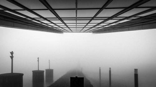 14mm 2020 altona bw d750 dockland hamburg nikon samyang architecture fog grainy lines symmetry 169