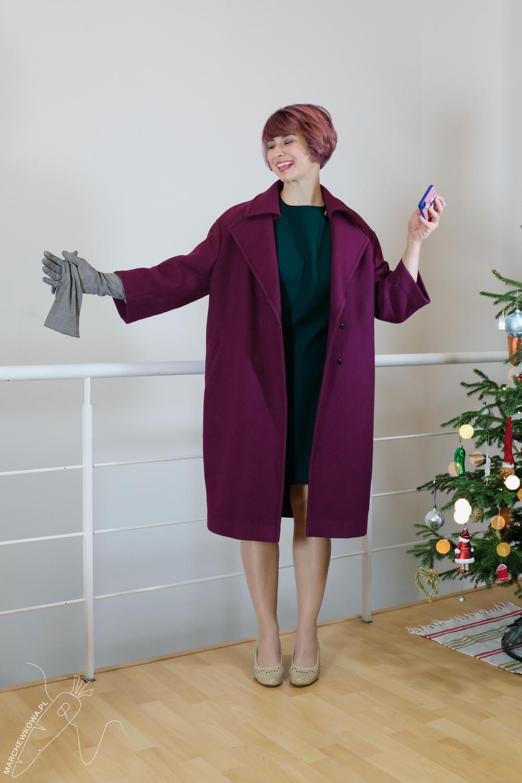 marchewkowa, blog, szycie, krawiectwo, rękodzieło, retro, lata '60., wykroje, DIY, handmade, Simplicity 8511, 1960s, vintage, refashioned coat Reiss, woal