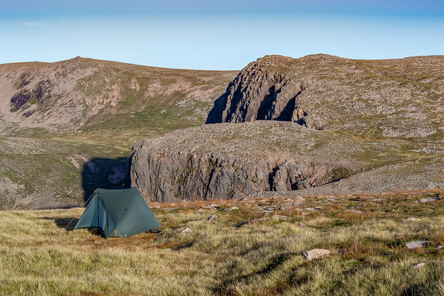Wildcamp above Loch Avon, Cairngorms