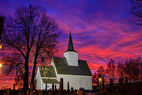 elements sørum sørumkirke viken sunset kirke thebestofnorway church norway