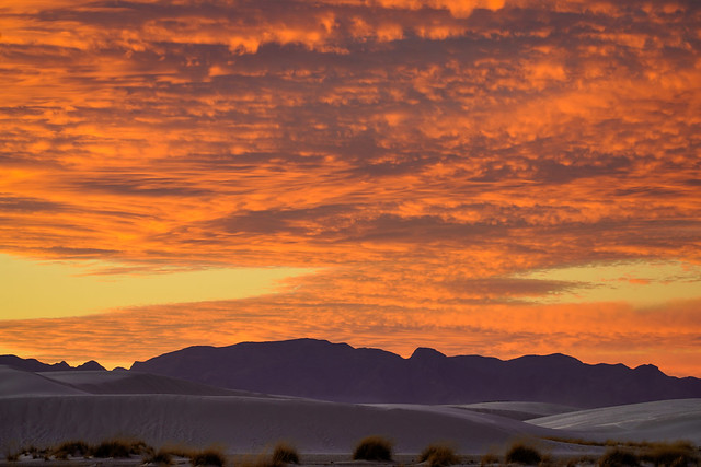 White Sands National Park - New Mexico - Sunset