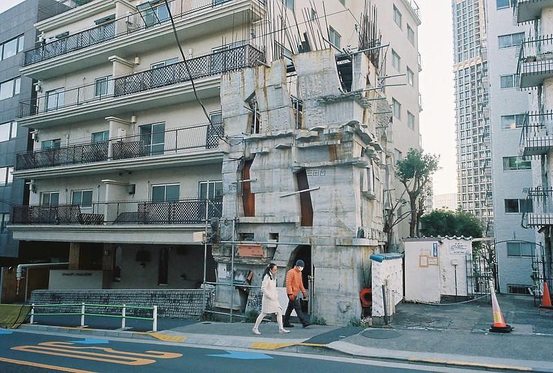 Ricoh GR1s+KodaK Ultramax400偽 東京いい道 しぶい道 三田聖坂 二本榎通り 蟻鱒鳶ル