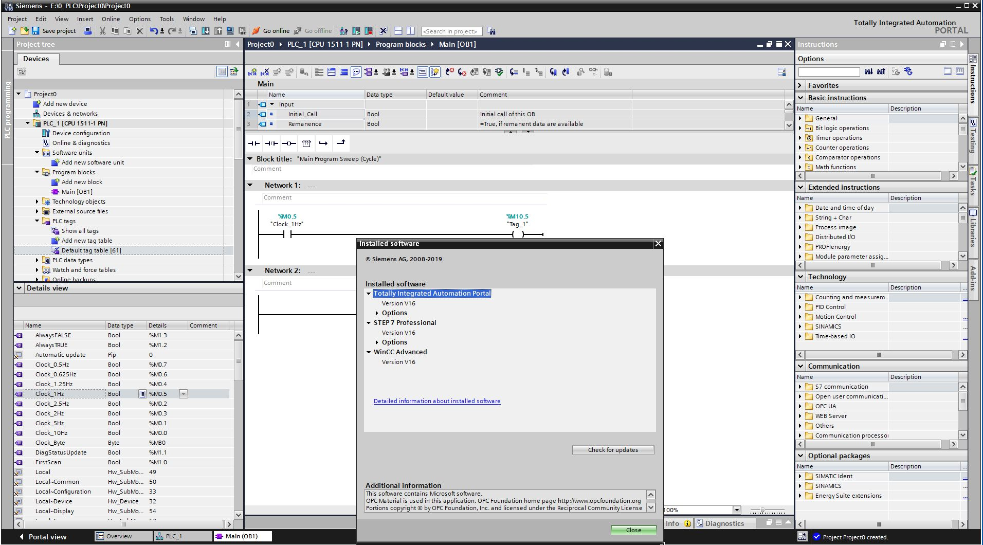 Working with Siemens Simatic TIA Portal V16.0 full license