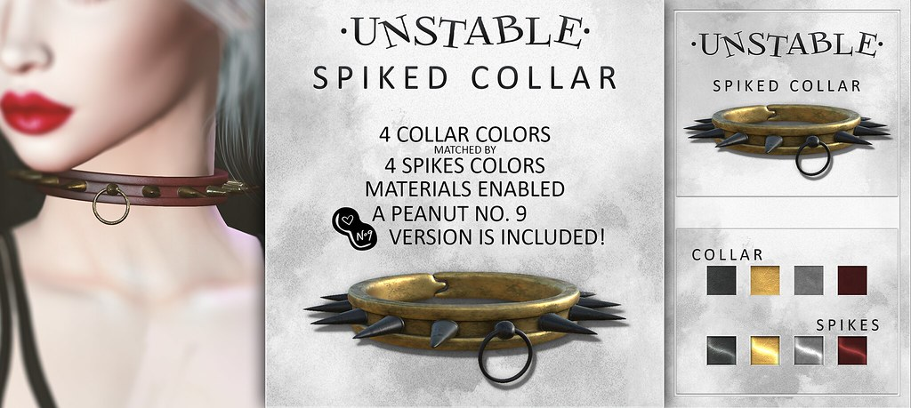 unstable. Spiked Collar AD