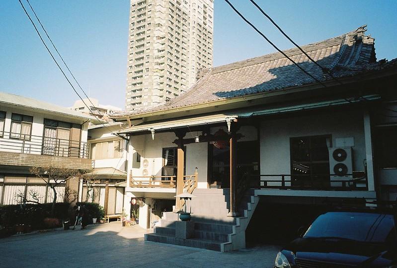 Ricoh GR1s+KodaK Ultramax400偽 東京いい道 しぶい道 三田聖坂 二本榎通り 黄梅院