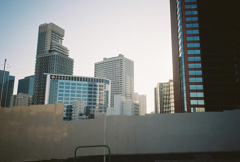 Ricoh GR1s+KodaK Ultramax400偽 東京いい道 しぶい道 三田聖坂 二本榎通り 三田東急アパート跡地