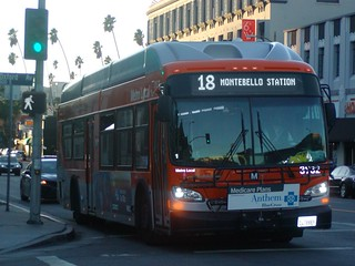 LACMTA Metro Local NFI-XN40-LFW CNG Cleaned Compressed Natural Gas New Flyer Bus Industries Low Floor Excelsior Transit Bus Number 3932 Control Reference ID Run Trip Code Number 15 Route 18 Eastbound 6th Street to Whittier Boulevard Commerce Center