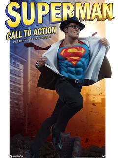 回應求救的吶喊聲,鋼鐵之軀出動! Sideshow Collectibles Premium Format™ Figure 系列【超人(Superman):Call to Action】1/4 比例全身雕像