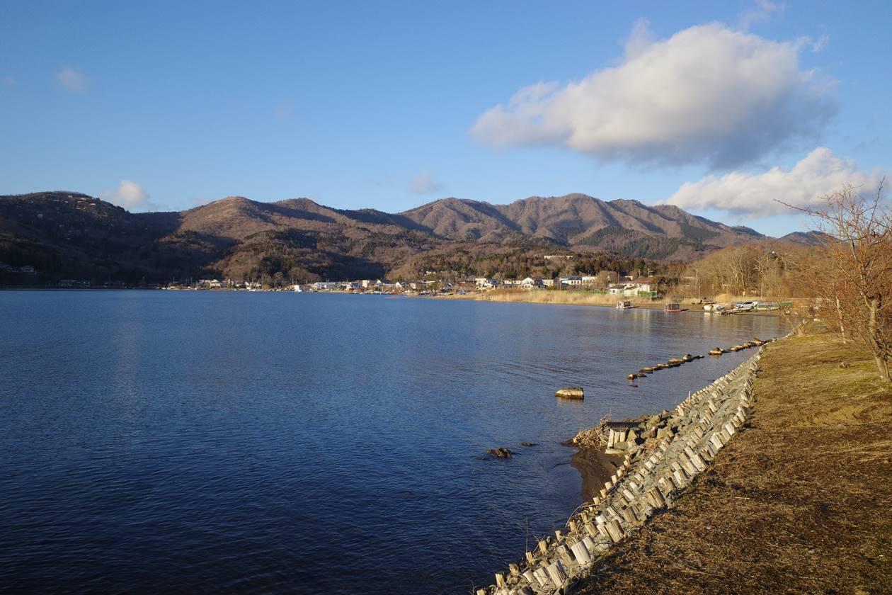 山中湖から眺める大平山~平尾山~石割山