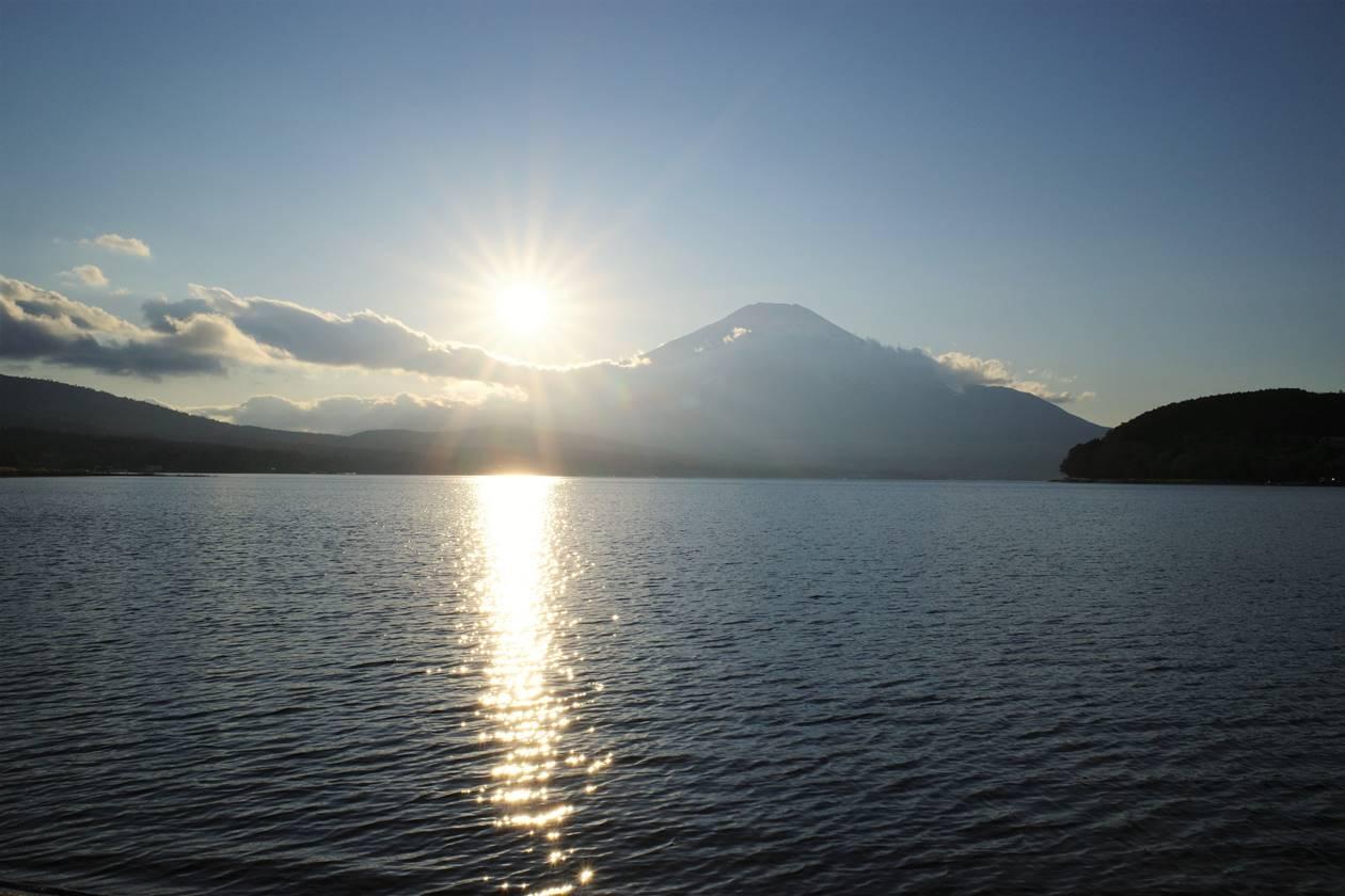 山中湖から眺める富士山