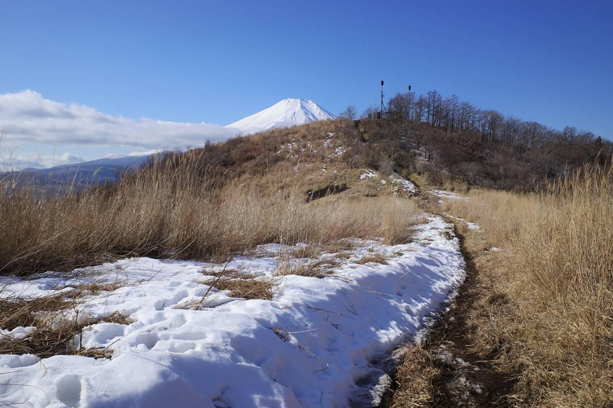大平山と富士山