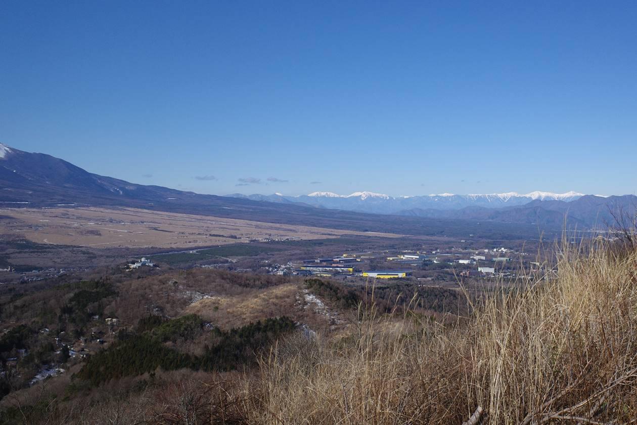 大平山から眺める南アルプス