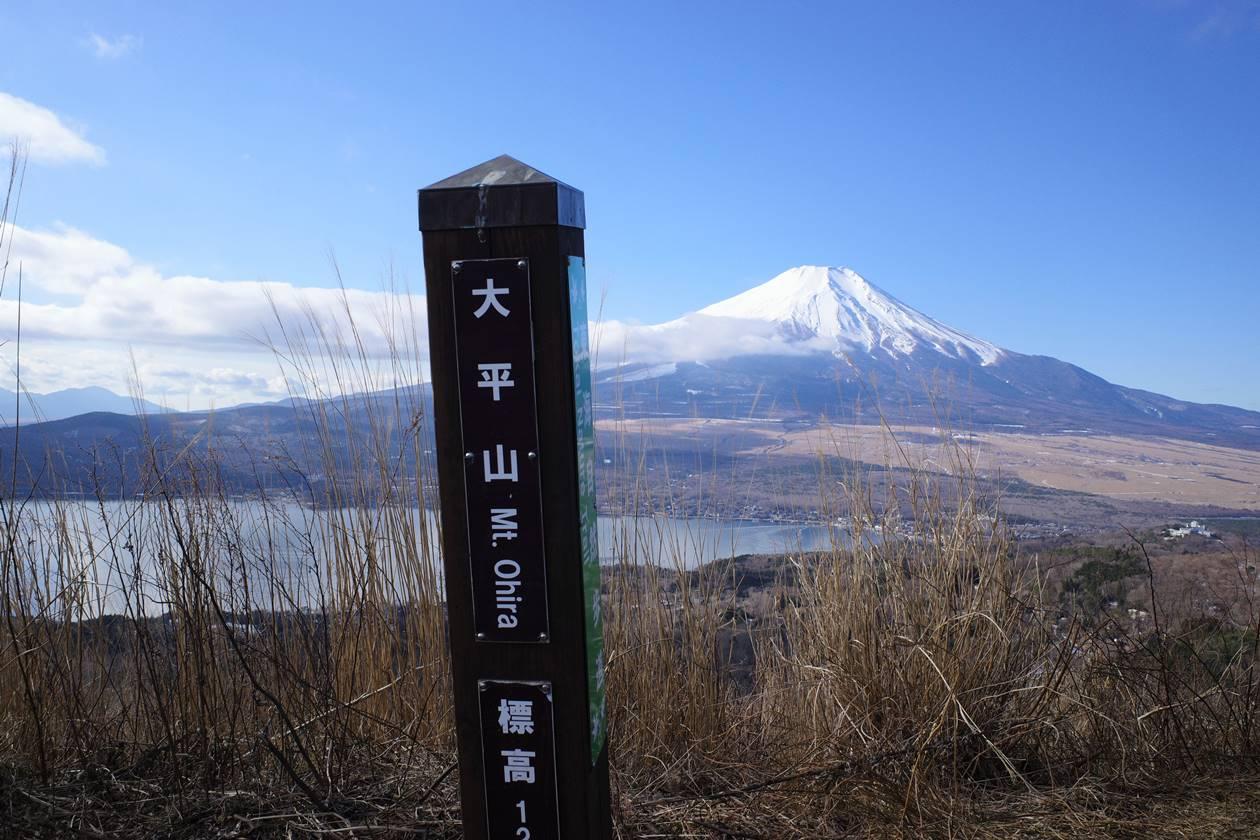大平山山頂標識