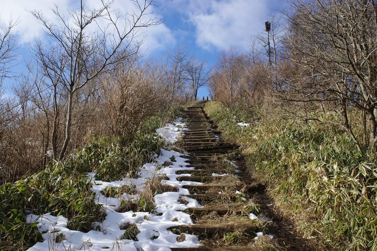 大平山 山頂までの階段