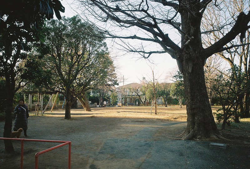 Ricoh GR1s+KodaK Ultramax400偽 東京いい道 しぶい道 三田聖坂 二本榎通り 亀塚公園