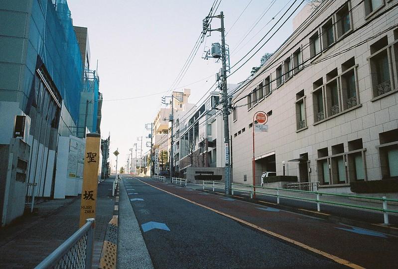 Ricoh GR1s+KodaK Ultramax400偽 東京いい道 しぶい道 三田聖坂 二本榎通り 聖坂