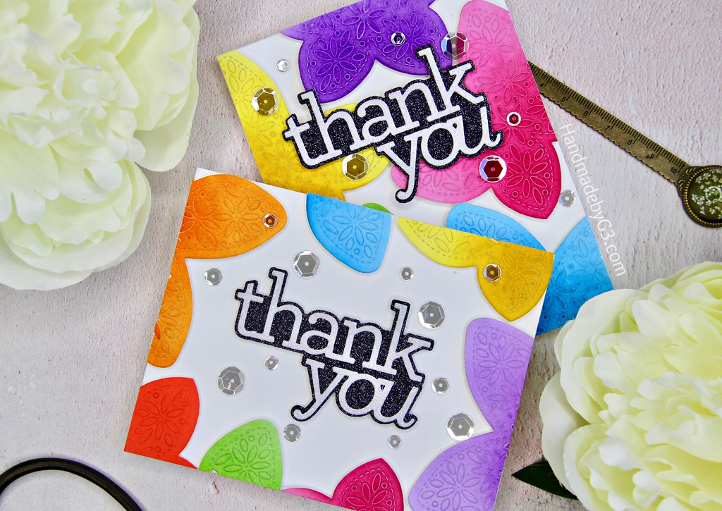 A set of Thank You cards closeup