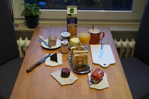 Frühstück an meinem _Frei_tag :-)