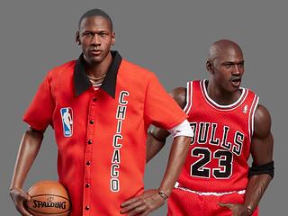 公牛時期14雙經典喬丹鞋一次收藏!ENTERBAY NBA Real Masterpiece「麥可·喬丹(客場)終極版」1/6比例 可動人偶(Michael Jordan-Away Final Limited Edition)