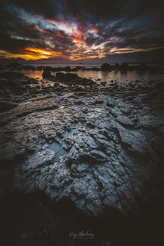 light beach outside nikkor sea portrait seascape nature water sunrise dawn bay nikon rocks d750 lowtide torbay meadfootbeach rtaphography uk sky colour clouds coast calm longexposure