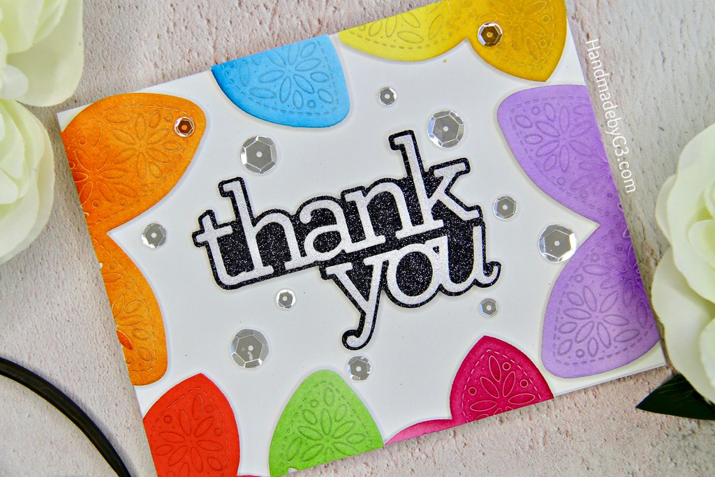 Thank you card #1 closeup