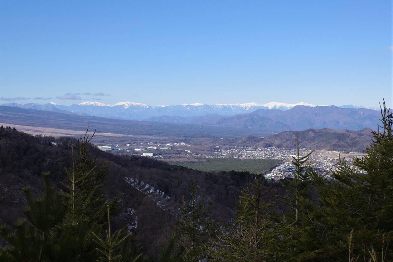 平尾山から眺める南アルプス