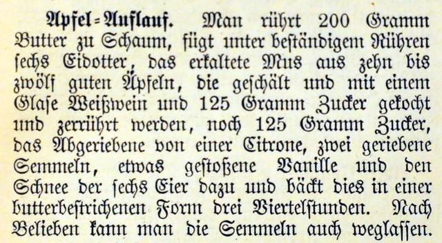 Der Apfel, die Lieblingsfrucht der Deutschen ... Apfel-Auflauf ... Brigitte Stolle