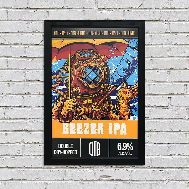IPA Beer Poster from Old Irving Brewing Co.