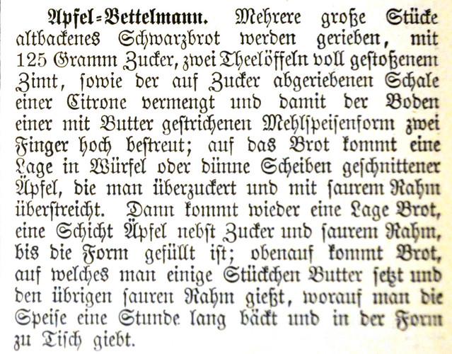 Der Apfel, die Lieblingsfrucht der Deutschen ... Rezept Apfel-Bettelmann ... Brigitte Stolle