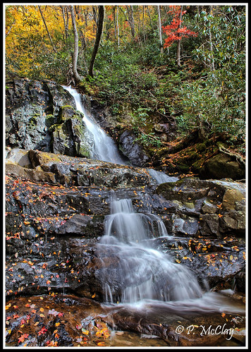 laurel falls autumn foliage smokymountainnationalpark national park tennessee america green white orange red cascade pool water waterfall forest hiking hike beauty beautiful longexposure canon eos slr 6d