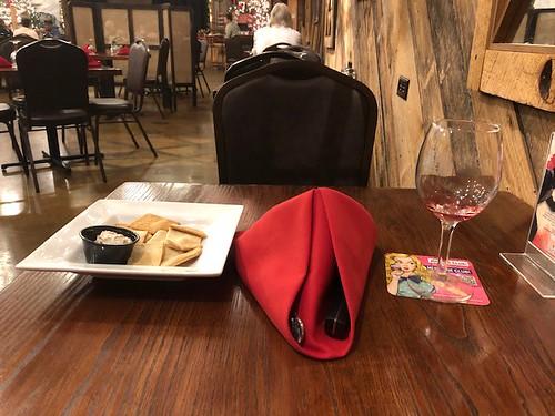 bistro food table napkin glass
