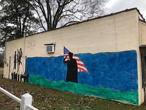 mural warsaw flag building