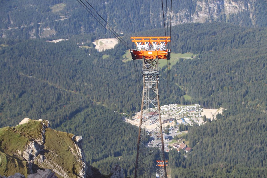 on the way to summit Zugspitze
