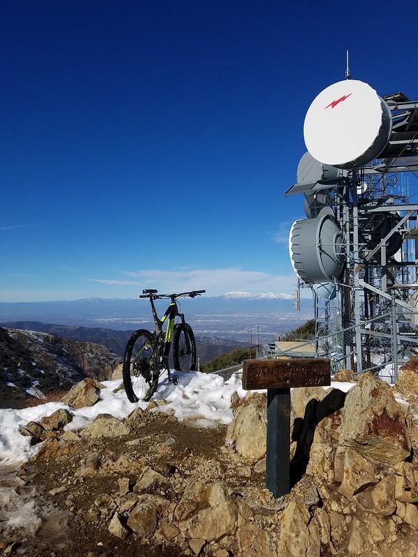 Santa Ana Mountains • Santiago Peak with view of the San Gabriel Mountains