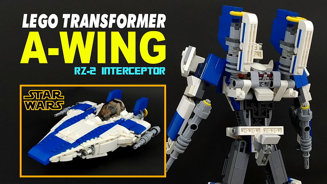 LEGO Transformers A-wing from Star Wars