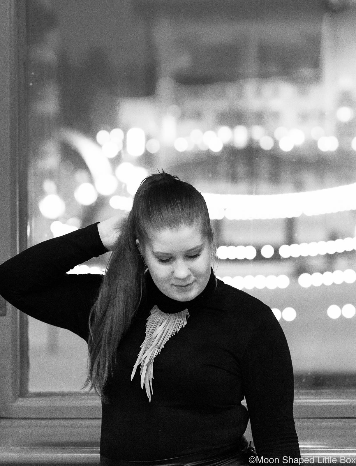Mustavalkoinen kasvokuva, blogi, tyyliblogi