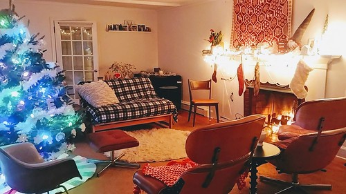 Living Room for Holidays, night