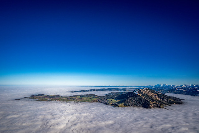 Island in a sea of fog - Switzerland