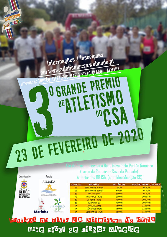 Cartaz 3º GP Atletismo CSA