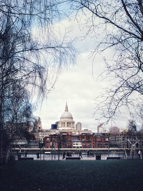Looking out to St Paul's …
